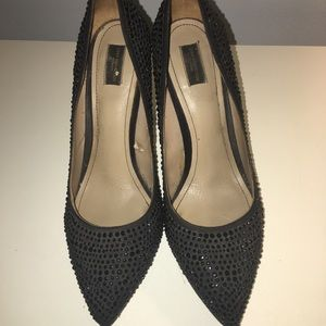 Zara crystals heels